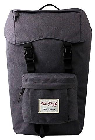 HotStyle 944N Mens Waterproof Hiking Backpack 34 Liters - Holds 17-inch Laptop - Grey