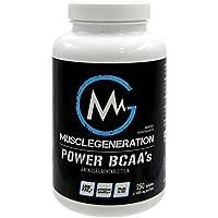 Preisvergleich für Musclegeneration | Power BCAA´s | 250 Tabletten | BCAA Tabletten Hochdosiert 250 Stück - Reines BCAA Pulver mit...