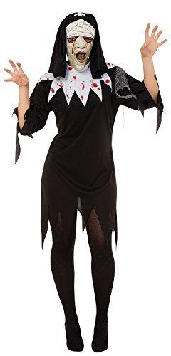 orror Nonne + Maske Religiös Halloween Kostüm Kleid Outfit 10-12-14 (Religiöse Halloween Kostüme)