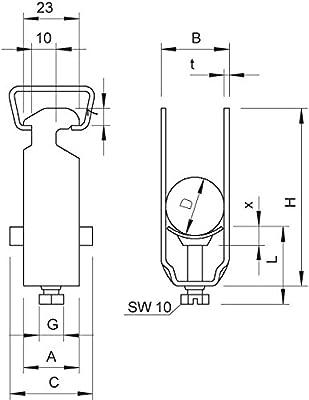 BETTERMANN Bügelschelle 40-46mm, ST, FVZ 2056 46 FT