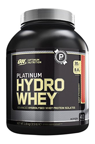 Optimum Nutrition Platinum Hydro Whey Protein Supercharged Strawberry, 1er Pack (1 x...