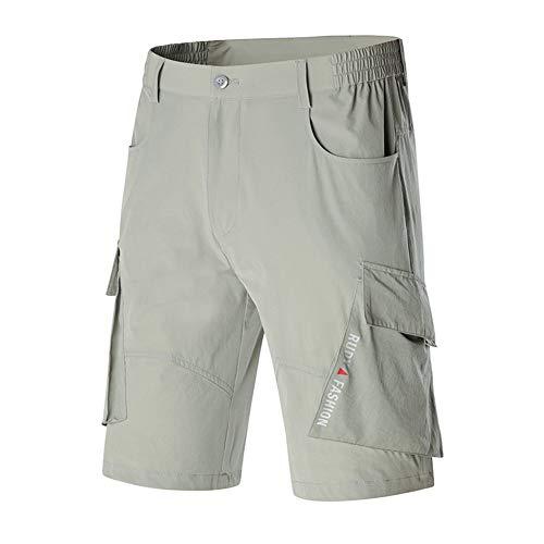 WYX Herren Sports Shorts, Outdoor Trockenshell Kurze Shorts Hohe Elastizität Atmungsaktiv Klettern Safari Shorts Multi-Pockets Pants,1,M - Klettern Nylon Shorts