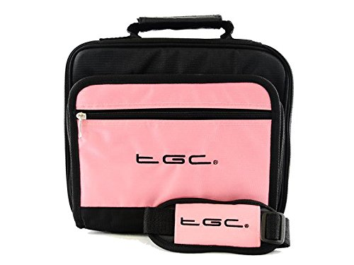 sonydvp-fx820-r-8-portable-dvd-player-twin-compartment-case-bag-by-tgc-baby-pink-black