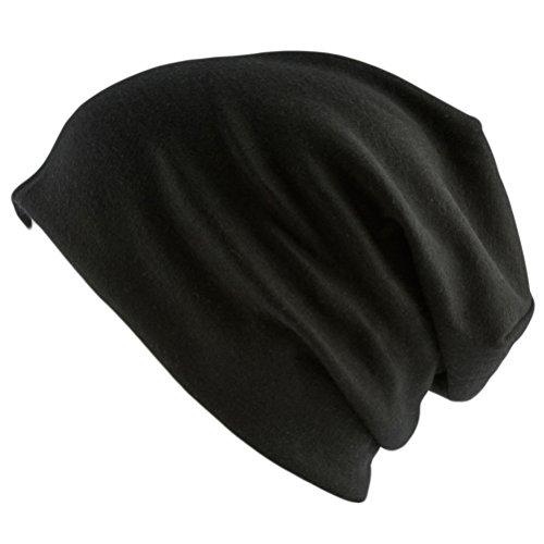 Oblique Unique® Long Beanie XXL Mütze Slouch Trend Damen Herren (Black)
