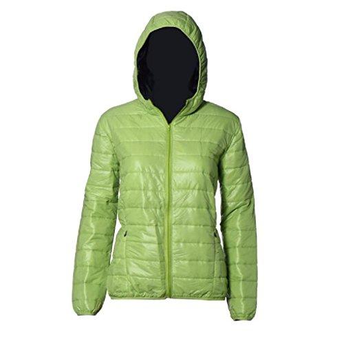 FEITONG Las mujeres del color del caramelo caliente del invierno Delgada Slim Down Abrigo capa de la chaqueta (XL,