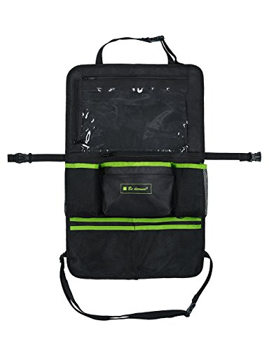 Preisvergleich Produktbild Premium Autositztasche | Rücksitz-Organizer | Kinderwagen-Tasche | Tretmatte | Rückenlehnenschoner | Rücksitz-Tasche mit Tablet-Fach - neues Modell