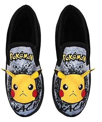 Pokemon Pikachu Graffiti Face Zapatillas de mocasín de Marga Gris para niños de Vanilla Underground