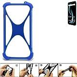K-S-Trade Handyhülle für Allview X4 Soul Infinity L Silikon Schutz Hülle Cover Case Bumper Silikoncase TPU Softcase Schutzhülle Smartphone Stoßschutz, blau (1x)