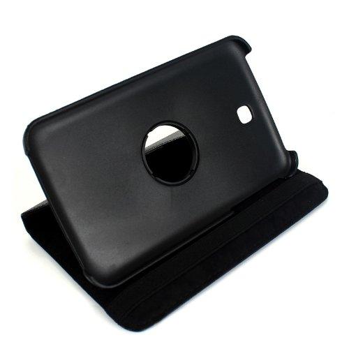 2-TECH 360 Grad Smart Cover passend für Samsung Galaxy Tab 3 7.0 P3200 drehbar Top Leder Schutz Hülle Tasche Schale Ledertasche Schutzhülle Etui
