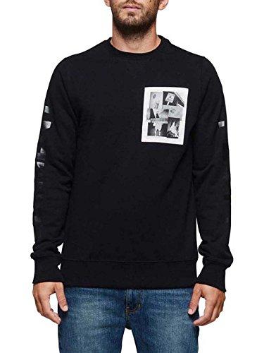 Herren Sweater Element Fluff Crew Sweater Flint Black