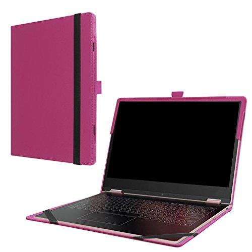 Bescita Neue Leder Flip Case Cover Skins für Lenovo Yoga A12 HD 12,2 Zoll Laptop (Rosa)