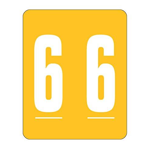 Smead color-coded numérico 6, color amarillo