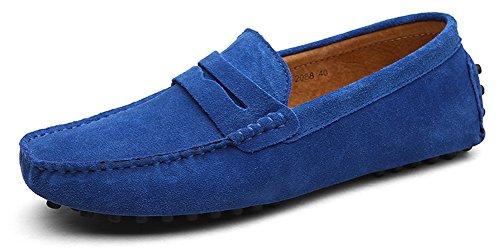 Eagsouni Herren Mokassin Bootsschuhe Wildleder Loafers Schuhe Flache Fahren Halbschuhe Slippers (Schuhe Slip Kleid On Jungen)