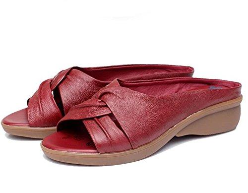 Sandálias De Verão Senhora Com Meio Termo Suave De Chinelos Velhos 2
