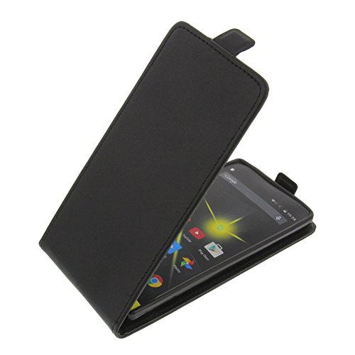 foto-kontor Tasche für Archos 50 Diamond Flipstyle Silikon Inlay Schutz Hülle Schwarz