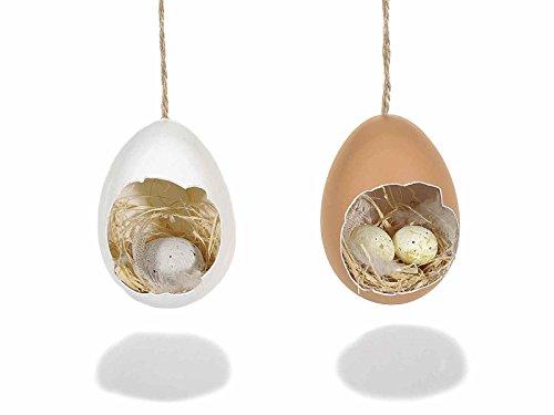 Ideapiu 16 decorazioni pasquali, uova decorative, uova pasqua decorata da appendere, uova pasquali, decorazioni pasquali