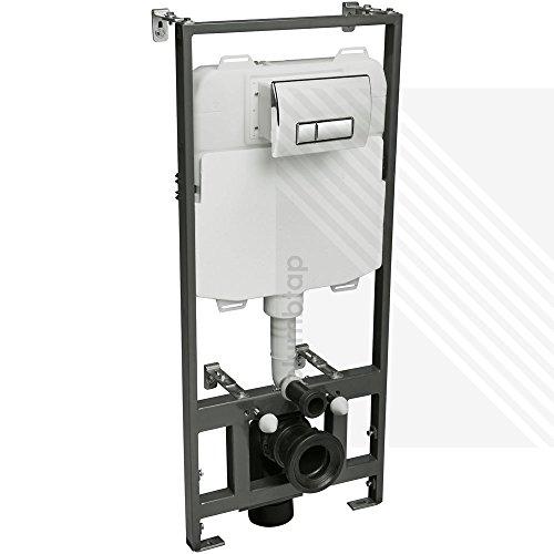 Cyclone verdeckter Universal 1,17m-1,37m Wandhängendes WC Rahmen und Spülkasten mit Spül-Platte -