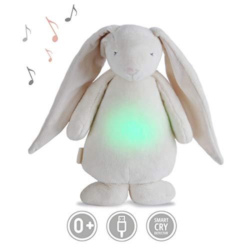 Peluche MOONIE avec bruits blanc et rose | Aide à l'endormissement et veilleuse de nuit pour bébé...