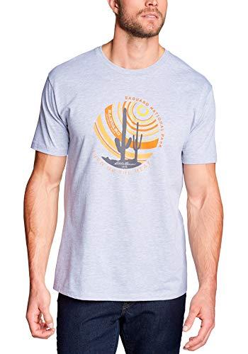 Eddie Bauer Herren T-Shirt - Saguaro, Gr. M, Hellgrau meliert