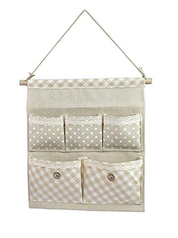 Tandi Linen/Cotton Fabric Wall Door Closet Hanging