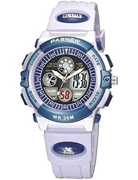Children's watch doppel-color wasserdicht luminous multi-funktion elektronik-A