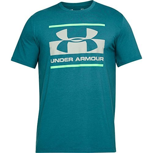 Under Armour Herren Blocked Sportstyle Logo T-Shirt, Loft Teal, M (Baumwolle-logo-t-shirt)