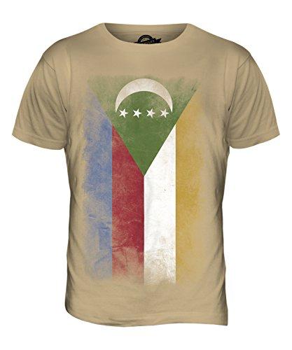 CandyMix Komoren Verblichen Flagge Herren T Shirt Sand