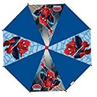 Spiderman Childrens umbrella Red and Blue