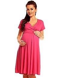 Zeta Ville - Damen - Umstandskleid - Kurzarm - Sommerkleid für Schwangere - 108c