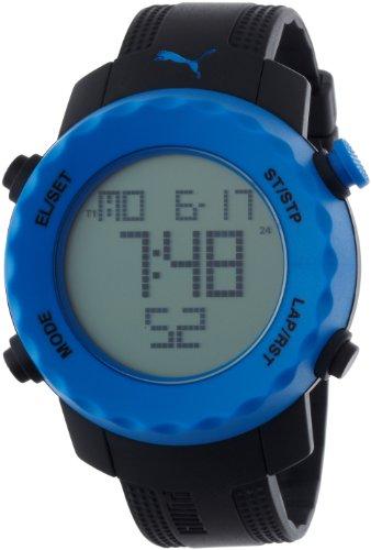 PUMA PU911031001 - Reloj digital de cuarzo unisex con correa de plástico, color negro