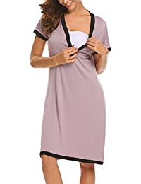 89d466a330cf UNibelle Camicia da Notte Premaman Vestito da maternità Donna Abito di  maternità Abito Scollo a V