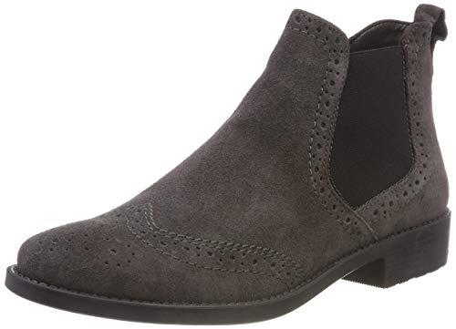 Tamaris Damen 25493-21 Chelsea Boots, Grau (Anthracite 214), 36 EU