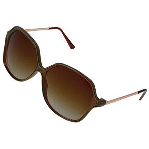 DealMux Metall Waffen Full-Felge Brillen Braun Kunststoff Sonnenbrillen Objektiv Freizeit