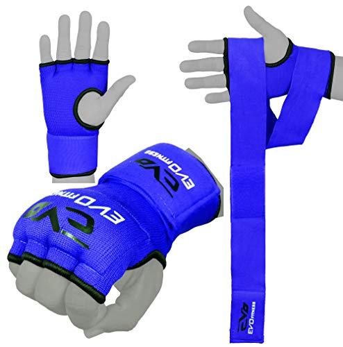 EVO Fitness Innen Handschuhe Elastisch Gelpolster Box Handschuhe Wraps MMA UFC - L/XL
