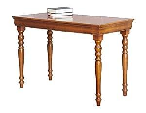 bureau classique en bois style louis philippe avec tiroir merisier petit espace petite. Black Bedroom Furniture Sets. Home Design Ideas