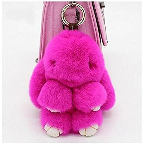 FEC Pelliccia di coniglio borsa Toy Ciondolo decorazione del cellulare della peluche coniglio bambola Play Dead Coniglio 7 pollici