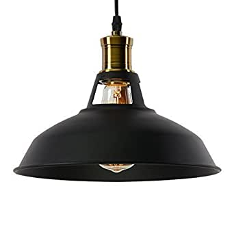 Lightess lampada a sospensione vintage industriale edison - Amazon luminaire suspension ...