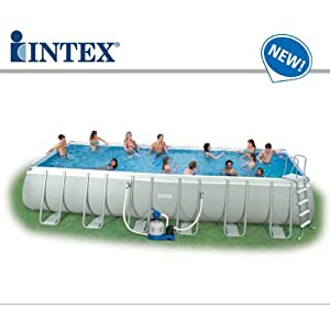 54984 Piscina Intex Fuori Terra Ultra Metal 732 x 366 x 132