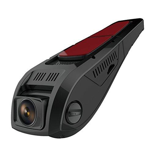 Pruveeo F5 Car Dash Cam con WiFi, Discreet Design Dash Cámara para coches con visión nocturna