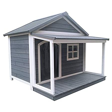 SAUERLAND Hundehütte aus Massivholz | wetterfeste Hundehütten mit Satteldach | isoliertes Hundehaus | Outdoor Hütte mit…