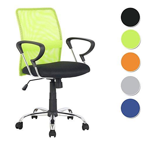 Sixbros. poltrona sedia ufficio sedia girevole verde/nero - h-8078f-2/2118