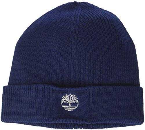 f17fb4d0 Timberland Boys' Bonnet Hat, (Indigo Blue), Size: 50. Classic ribbed design