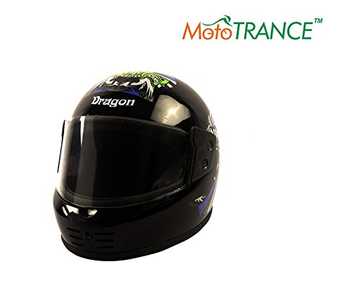 Mototrance AF2069 Autofurnish (MO-103) Road Dragon Full Face Helmet Multi Graphics (Black)(Large)  available at amazon for Rs.509