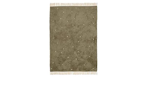 Little Dutch RU10110161 Teppich mit Punkten Pure rost orangerot 170x120 cm