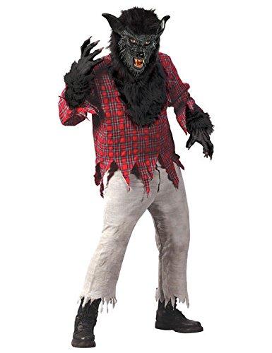 Werwolf Halloween Kostüm schwarz rot M/L