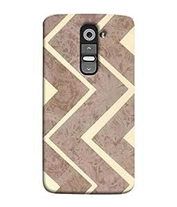 PrintVisa Designer Back Case Cover for LG G3 Mini (Artistic Design Of Brown Zig Zag Pattern)