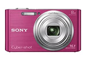 Sony Cyber-shot DSC-W730/PC E32 16.1MP Point-and-Shoot Digital Camera (Pink) with Camera Case