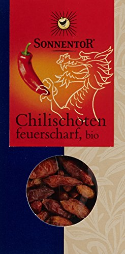 Image of Sonnentor Chilischoten feuerscharf, 1er Pack (1 x 25 g) - Bio