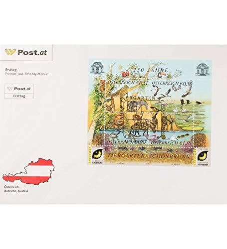 Goldhahn Österreich Block 16 FDC Ersttagsbrief Tiere Briefmarken für Sammler -