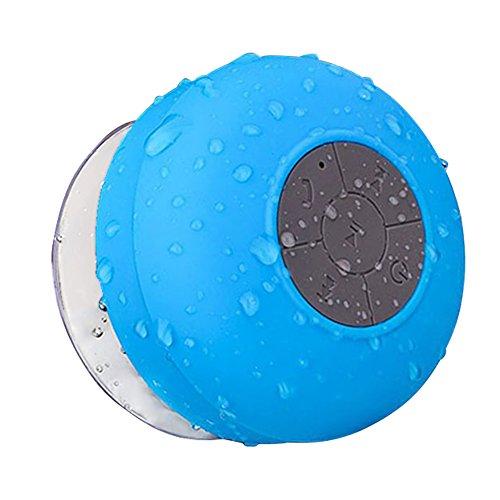 Normia Rita Waterproof Sucker Bluetooth Creative Mini Bathroom Wireless Speaker, Completely Waterproof, Smart Bluetooth 4.0 - Blue